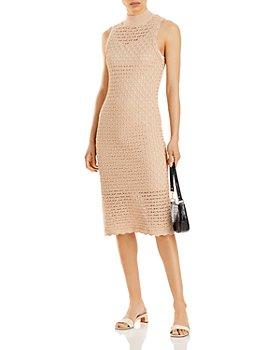 AQUA - Sleeveless Knit Midi Dress - 100% Exclusive