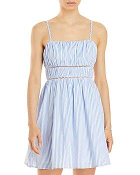 AQUA - Striped Mini Dress - 100% Exclusive