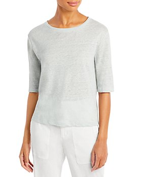 Vince - Relaxed Linen Elbow Sleeve Shirt