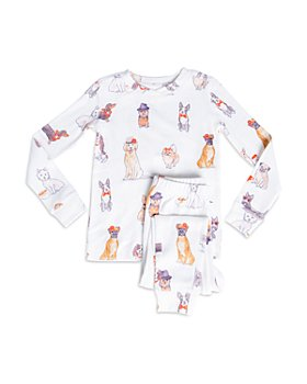 PJ Salvage - Unisex Dog-Print Pajama Set - Little Kid, Big Kid
