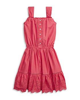 Ralph Lauren - Girls' Cotton Eyelet Ruffled Dress - Big Kid