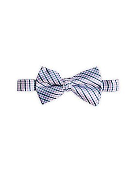 Michael Kors - Boys' Check Pre Tied Silk Bow Tie - Big Kid