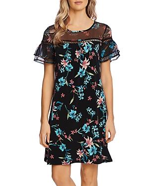 Mixed Media Ruffle Dress