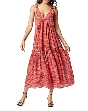 Joie Bondi Animal Print Silk Midi Dress