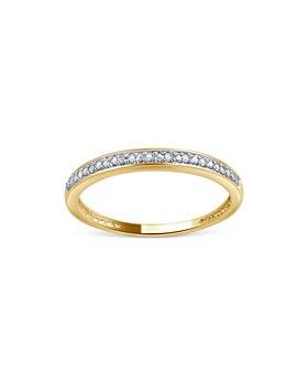 UNIQUE DESIGNS - Diamond Accent Eternity Band in 10K White Gold, 0.04 ct. t.w. (61% off) - Comparable value $310