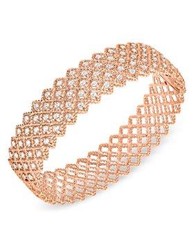 Roberto Coin - 18K Rose Gold Roman Barocco Diamond Bangle Bracelet