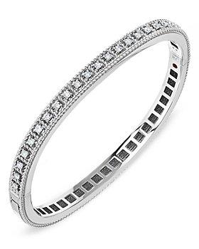 Roberto Coin - 18K White Gold Byzantine Barocco Diamond Bangle Bracelet