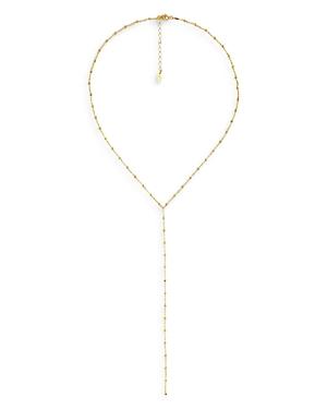 Maison Irem Textured Bead Lariat Necklace, 17