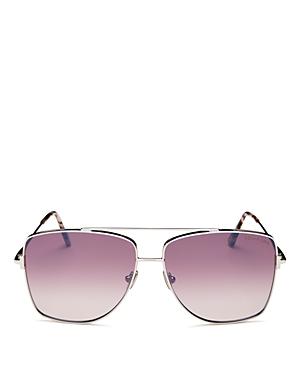Tom Ford Women's Reggie Brow Bar Aviator Sunglasses, 61mm