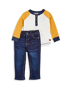 7 For All Mankind - Boys' Henley Waffle Tee & Jeans Set - Baby