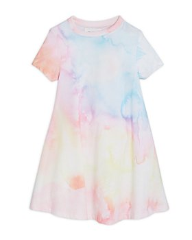 SOL ANGELES - Girls' Watercolor Short Sleeve Dress - Little Kid, Big Kid
