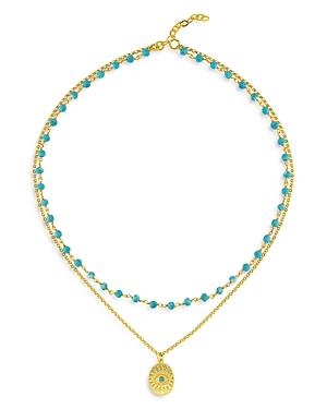 Hawaii Dream Layered Bead & Pendant Necklace