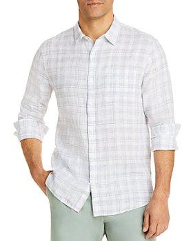 Vince - Linen Crosshatch Long Sleeve Shirt