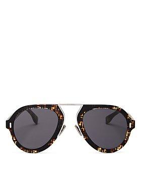 Fendi - Women's Brow Bar Aviator Sunglasses, 53mm