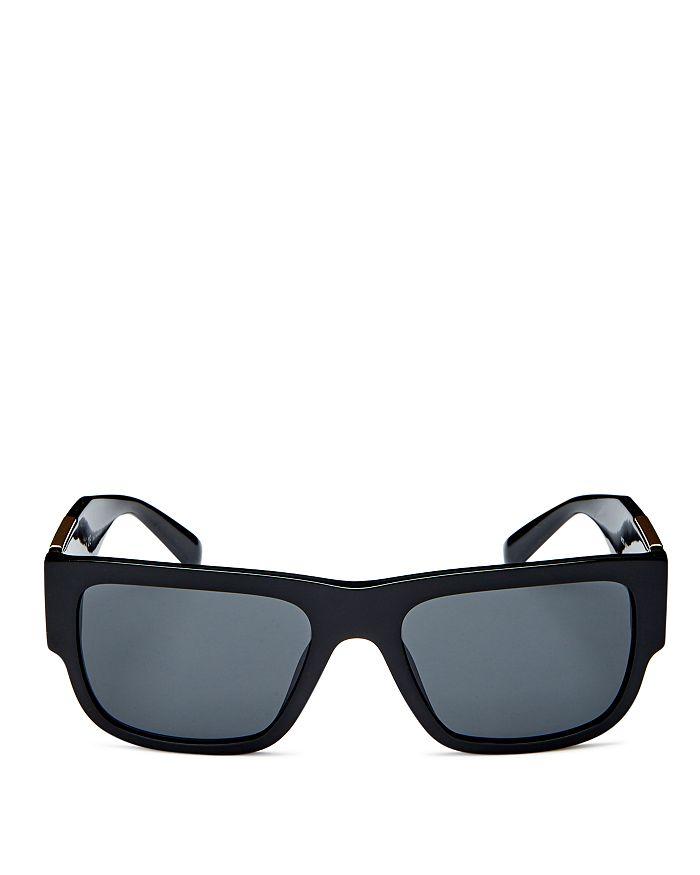 Versace Men's Square Sunglasses, 56mm In Black /dark Gray