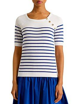 Ralph Lauren - Striped Elbow Sleeve Sweater