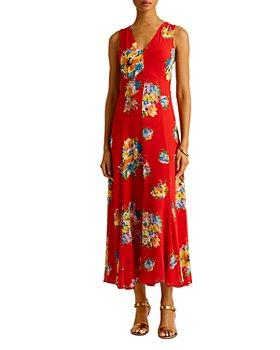 Ralph Lauren - Floral Print Sleeveless Dress