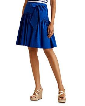 Ralph Lauren - Tie Waist Ruffled Skirt