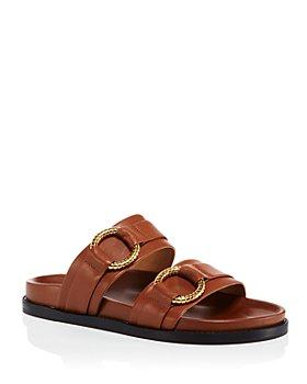 AQUA - Women's Double Buckle Slide Sandals - 100% Exclusive