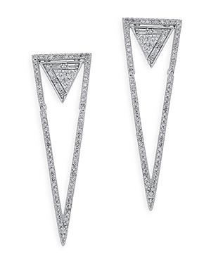 Bloomingdale's Diamond Mosaic Drop Earrings in 14K White Gold, 1.0 ct. t.w. - 100% Exclusive