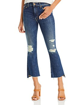 MOTHER - The Insider Cropped Jeans in Wicked Wildflower