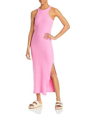 Rasha Ribbed Jersey Racerback Midi Dress