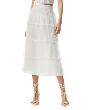 Kenya Pleated Tulle Midi Skirt