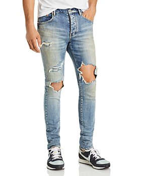Purple Brand - Light Indigo Distressed Skinny Jeans