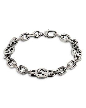 Gucci - Sterling Silver Interlocking Chain Bracelet