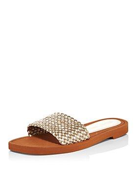 Stuart Weitzman - Women's Wova Slide Sandals