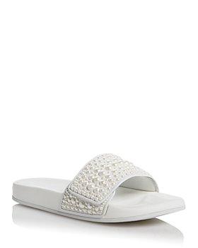 Jimmy Choo - Women's Fitz Embellished Slide Sandals