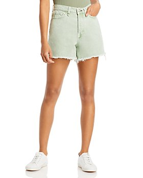 rag & bone - Maya High Rise Denim Shorts in Seafoam