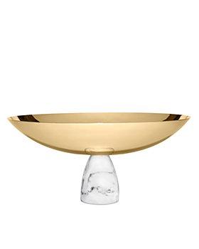ANNA new york - Coluna Fruit Bowl, Marble/Gold