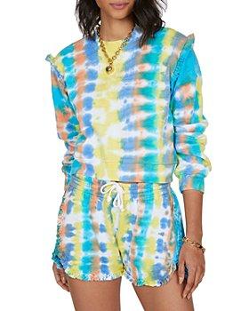Generation Love - Abella Tie Dyed Ruffled Sweatshirt & Jay Ruffled Shorts