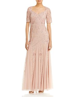 Beaded Godet Gown