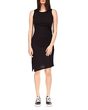 Michael Michael Kors Solid Crewneck Drape Dress