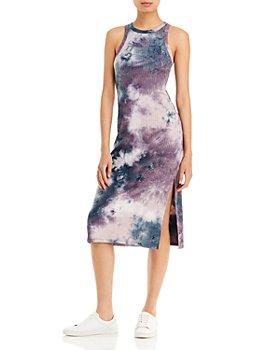 AQUA - Tie Dyed Knit Midi Dress - 100% Exclusive