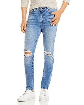 MONFRÈRE - Greyson Skinny Fit Jeans in Distressed Sicily