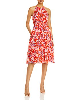 Eliza J - Floral Print Halter Dress