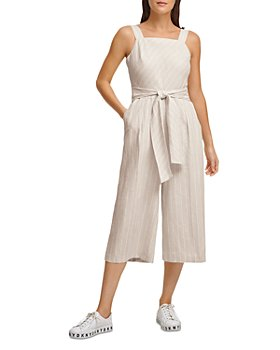 DKNY - Belted Striped Jumpsuit