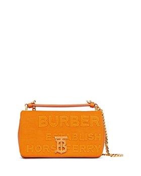 Burberry - Lola Small Horseferry Canvas Shoulder Bag