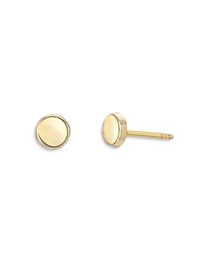 Zoe Lev 14K Yellow Gold Disc Stud Earrings