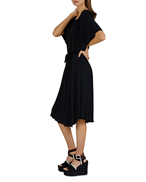 Atm Anthony Thomas Melillo Off-the-shoulder Midi Knit Dress In Black