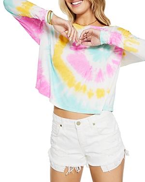 Ramy Brook Gemma Tie Dyed Back Cutout Top