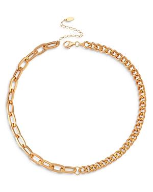Maison Irem Nevermind Half and Half Chain Necklace, 16.5