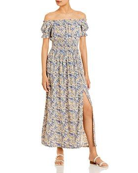AQUA - Fresco Off The Shoulder Maxi Dress - 100% Exclusive