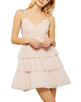 BCBGMAXAZRIA - Tiered Tulle Mini Dress
