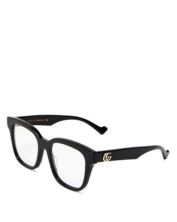 Gucci - Women's Square Clear Glasses, 52mm