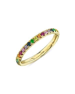 Moon & Meadow Rainbow Sapphire, Emerald & Ruby Ring in 14K Yellow Gold - 100% Exclusive