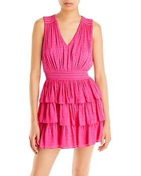 AQUA - Ruffled Smocked Mini Dress - 100% Exclusive